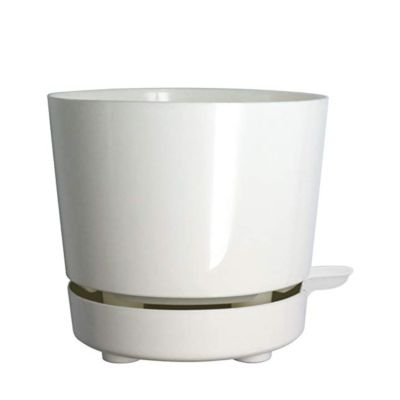 white self aerating planter