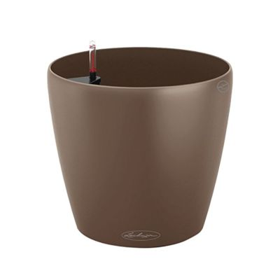 Classic self watering brown planter