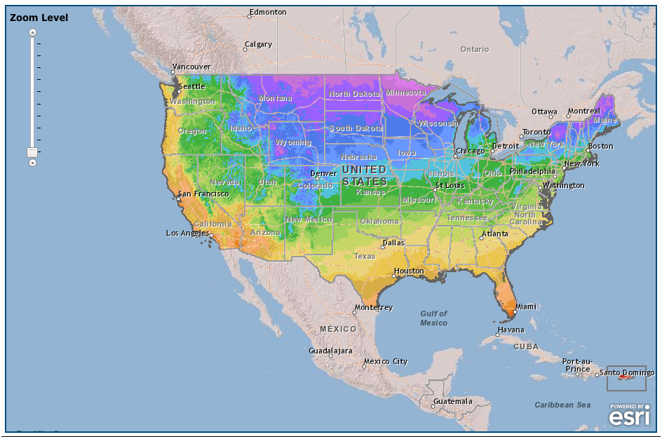 Usda Hardiness Zones For Plants And Edible Gardens Yhmag - Map-of-us-planting-zones