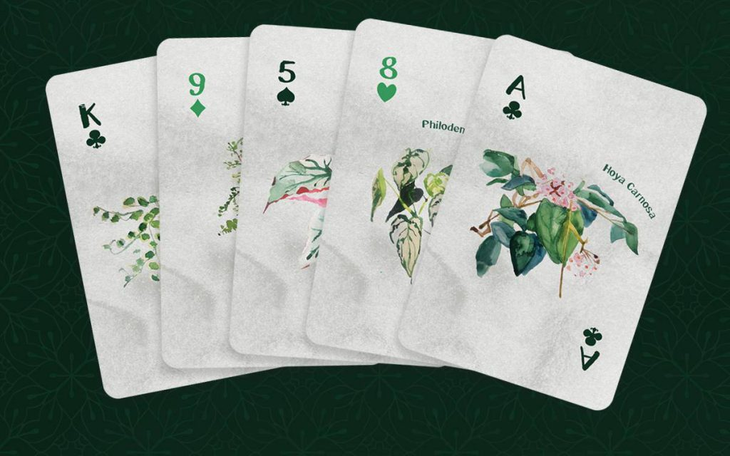 floral playing cards deck by YHMAG
