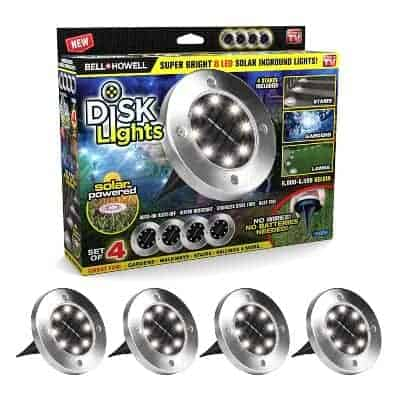 disk shaped outdoor solar lights