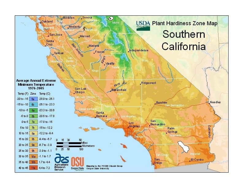 Southern California USDA Zones