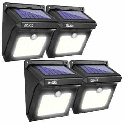 wall mounted waterproof solar lights