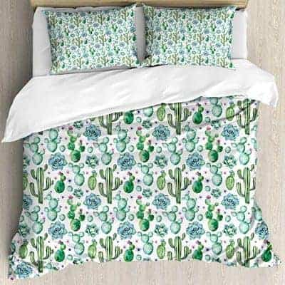 cacti and succulents bedding set