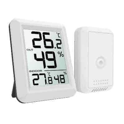 indoor and outdoor temperature and humidity monitor