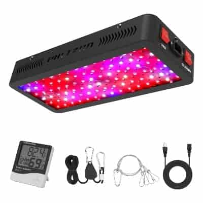 hanging LED grow light from Phlizon